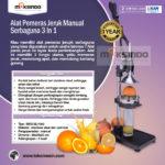 Jual Alat Pemeras Jeruk Manual Serbaguna 3 in 1 di Palembang