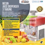 Jual Mesin Juice Dispenser 3 Tabung (17 Liter) – DSP17x3 di Palembang
