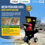 Jual Mesin Perajang Kayu dan Ranting Pohon – AGR-CP6 di Palembang