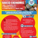 Training Usaha Bakso Ekonomis di Condet, 3 September 2016