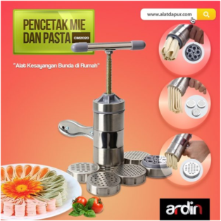 Jual Alat Cetak Mie dan Pasta Manual Stainless (ARDIN) di Palembang
