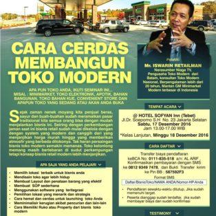 Seminar Cara Cerdas Membangun Toko Modern, 17 Desember 2016