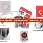 Jual Mesin Mixer Planetary 10 Liter (MPL-10) di Palembang
