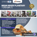 Jual Mesin Mixer Planetary 7 Liter (MPL-7) di Palembang