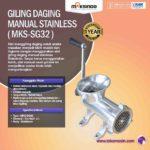 Jual Giling Daging Manual Stainless MKS-SG32 di Palembang