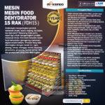 Jual Mesin Food Dehydrator 15 Rak (FDH15) di Palembang