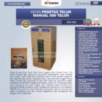 Jual Mesin Penetas Telur Manual 500 Telur (EM-500) di Palembang