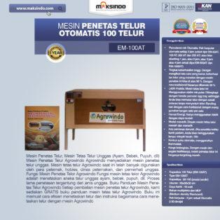 Jual Mesin Penetas Telur Otomatis 100 Telur (EM-100AT) di Palembang