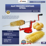 Jual Alat Pengiris Kentang Spiral (MKS-PSS44) di Palembang