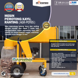 Jual Mesin Pemotong Kayu – Ranting (AGR-POT65) di Palembang