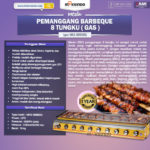 Jual Pemanggang BBQ (gas) 8 Tungku di Palembang