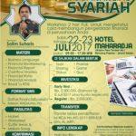 Workshop Mahir Mengelola Financial Syariah 22, 23 Juli 2017