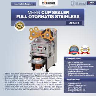 Jual Mesin Cup Sealer Full Otomatis Stainless (CPS-12A) di Palembang
