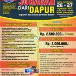 Workshop Jadi Juragan Dapur, 26-27 Agustus 2017