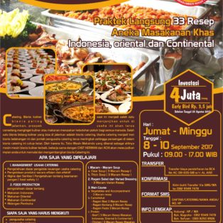 Workshop Bisnis Catering, 8 – 10 September 2017