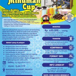 Training Usaha Aneka Minuman Cup, 19 Agustus 2017