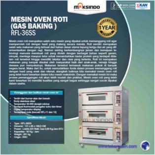 Jual Mesin Oven Roti Gas 6 Loyang (MKS-RS36) di Palembang