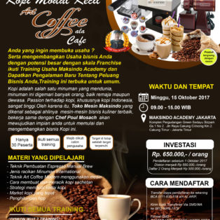 Training Usaha Art Coffee Ala Cafe, 15 Oktober 2017