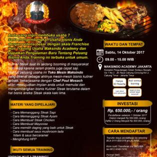 Training Usaha Aneka Steak Kaki Lima, 14 Oktober 2017