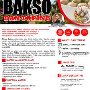 Training Usaha Aneka Bakso dan Toping, 21 Oktober 2017