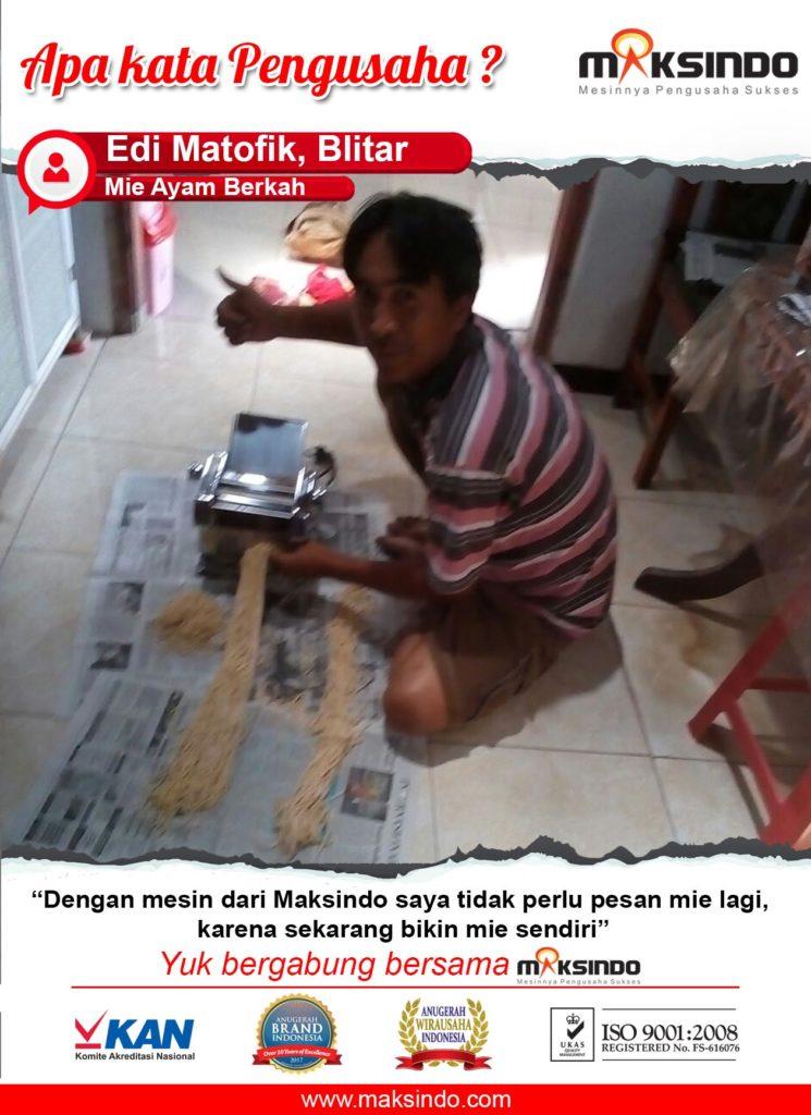 Mie Ayam Berkah : Produksi Usaha Mie Ayam Saya Makin Cepat Dengan Mesin Cetak Mie Maksindo