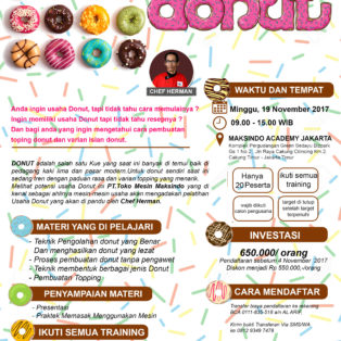 Training Usaha Donut, 19 November 2017