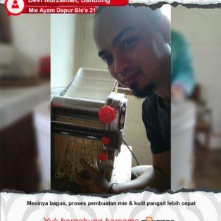 Mie Ayam Dapur Ble'e 21 : Pembuatan Mie dan Kulit Pangsit Lebih Cepat Karena Cetak Mie Maksindo