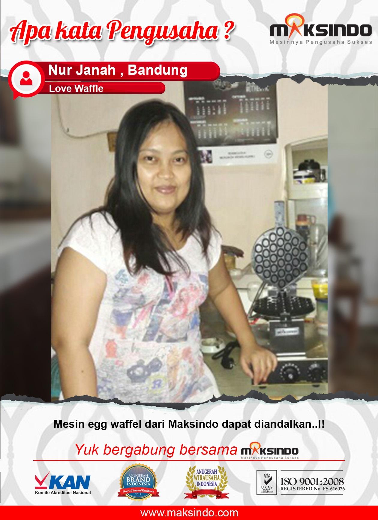 Love Waffle : Dengan Mengandalkan Mesin Egg waffle dari Maksindo Usaha Saya Jaya