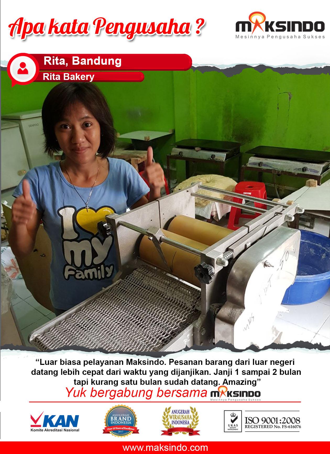 Rita Bakery : Usaha Saya Lebih Maju Menggunakan Mesin Maksindo