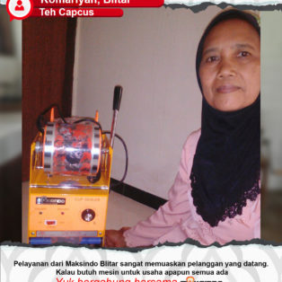 Teh Capcus : Menggunakan Mesin Cup Sealer Manual Maksindo Sangat Memuaskan Pelanggan