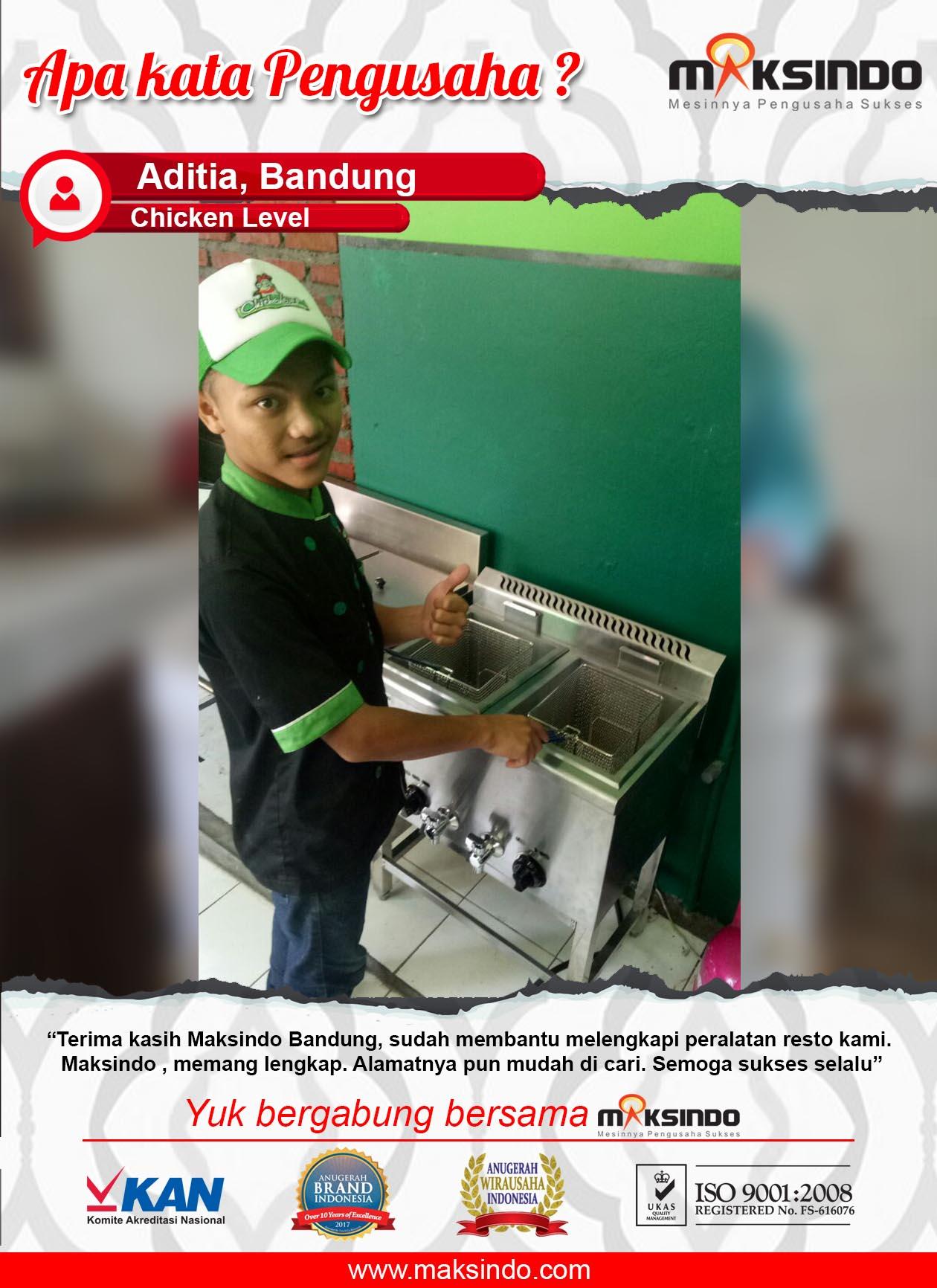 Chicken Level : Peralatan Resto Semakin Lengkap Karena Mesin Deep Fryer Maksindo