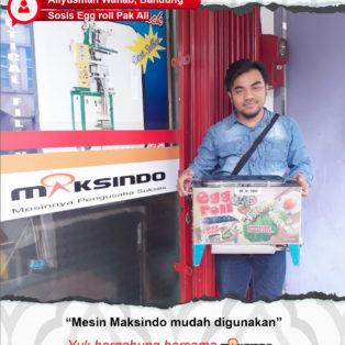 Sosis Egg Roll Pak Ali : Usaha Saya Makin Lancar Dengan Mesin Egg Roll Maksindo