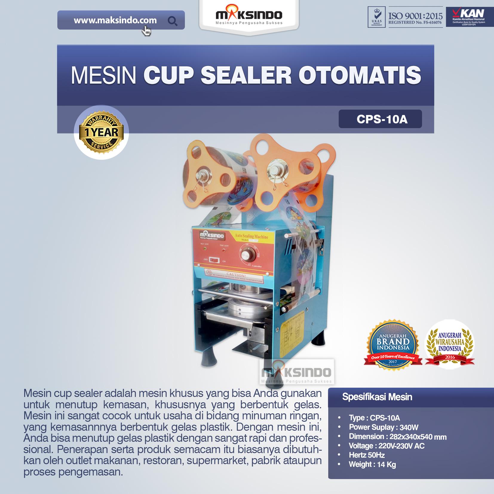 Jual Mesin Cup Sealer Otomatis (CPS-10A) di Palembang