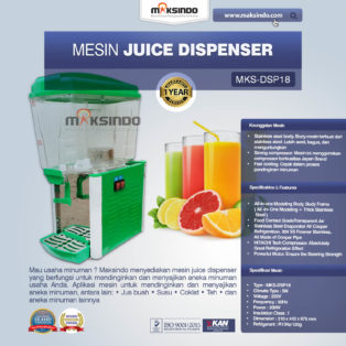Jual Mesin Juice Dispenser MKS-DSP18 di Palembang