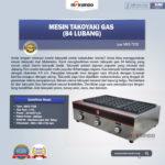 Jual Mesin Takoyaki Gas (84 Lubang) di Palembang