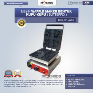 Jual Mesin Waffle Maker Bentuk Kupu-Kupu (Butterfly) MKS-BFLYW23 di Palembang