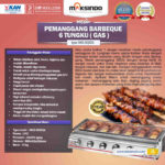 Jual Pemanggang BBQ Stainless (gas) 6 Tungku di Palembang