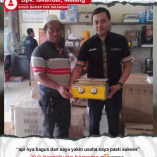 Sosis Bakar Pak Iskandar : Usaha Makin Sukses Dengan Mesin Maksindo