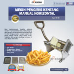 Jual Mesin Pengiris Kentang Manual Horizontal (KG-02) di Palembang