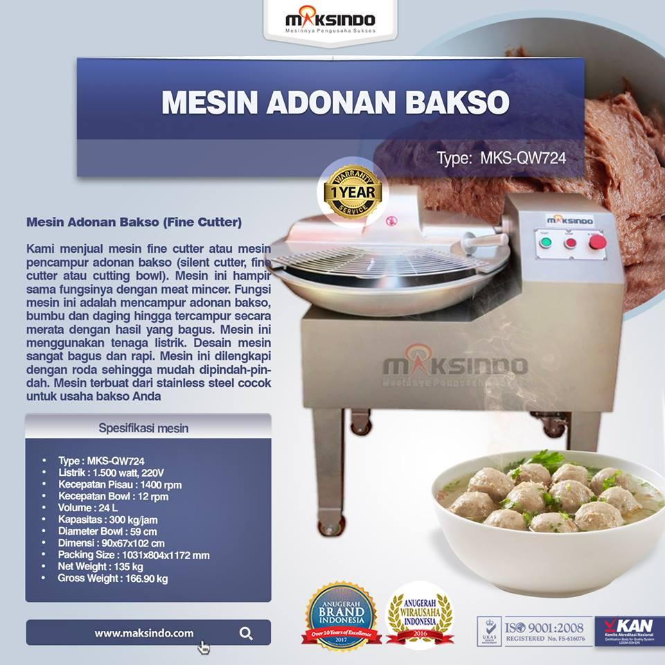 Jual Mesin Adonan Bakso (Fine Cutter) MKS-QW724 di Palembang