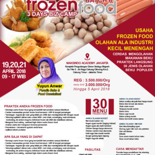 Training Usaha Frozen Food, 19-21 April 2018