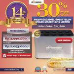 Jual Mesin Egg Roll Sosis Telur Snack Maker 4in1 Listrik di Palembang