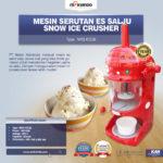 Jual Mesin Serutan Es Salju (Snow Ice Crusher) MKS-ICE38 di Palembang