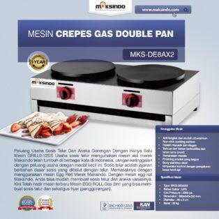 Jual Mesin Crepes Gas Double Pan (DE8Ax2) di Palembang