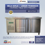 Jual Meja Kerja + Lemari Pendingin (Working Table With Freezer) MKS-WTS201 di Palembang