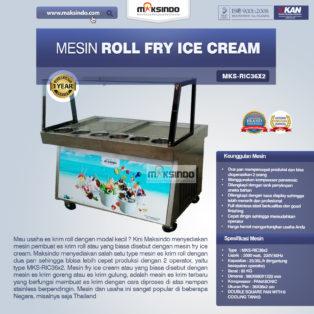 Jual Mesin Roll Fry Ice Cream RIC36x2 di Palembang