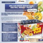 Jual Mesin Egg Roll Gas 2in1 Plus Fryer ERG007 Maksindo di Palembang