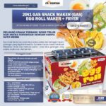 Jual Mesin Egg Roll Gas 2in1 Plus Fryer ERG007 Maksindo di Palembang