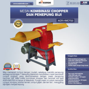 Jual Mesin Kombinasi Chopper dan Penepung Biji (HMCP20) di Palembang