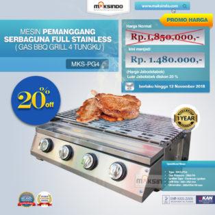 Jual Pemanggang Serbaguna – Gas BBQ Grill 4 Tungku di Palembang